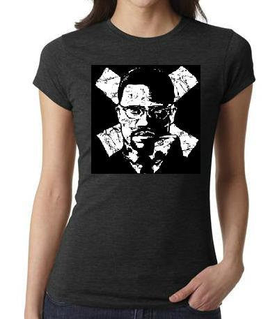 ladies women tops shirt  DR. MX  t shirt t malcom x movies