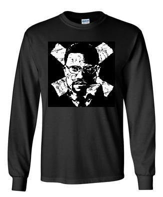 dr mx malcom x long sleeve Tshirts screen printed  longsleeved tee