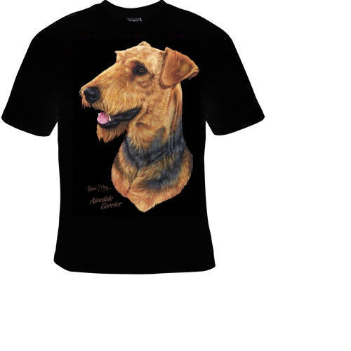 AIREDALE TERRIER Dog Tshirts clothes T Shirts Tees, Tee T-Shirt design funny cool tee animals dogs lovers