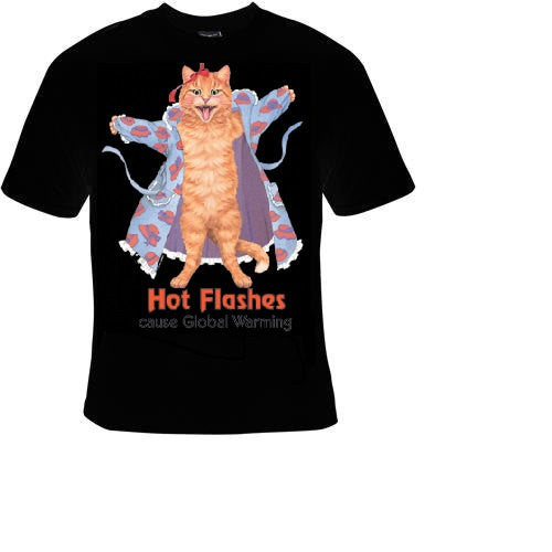 hot flashes cat in dress Tshirts cool funny t shirt pets animals lovers