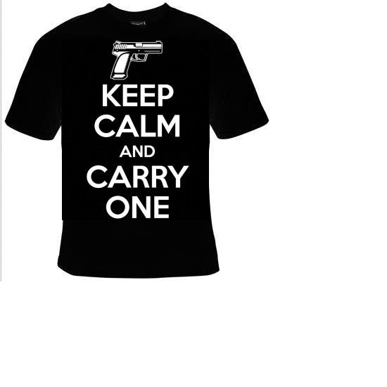 keep calm and carry one Tshirts funny coolest  t shirt  design gun