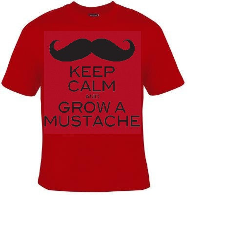 keep calm and grow mustache Tshirts funny coole t shirt design