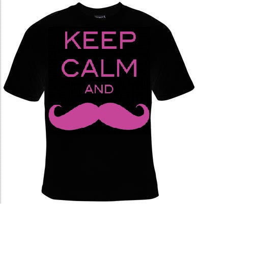 keep calm and mustache T-shirts funny cool t shirt unisex