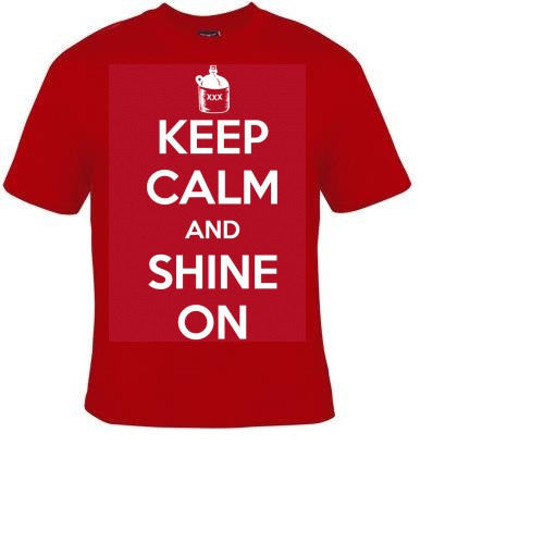 keep calm and shine on T-shirts funny Tshirt