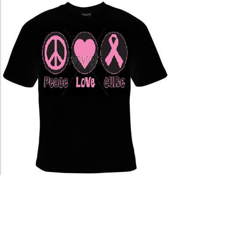 peace love cure cool T-shirts tee t shirt