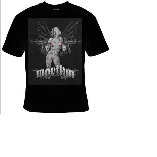 Tshirts MARILYN monroe- laser ASSAULT RIFLES movies actor cool funny  T-shirts