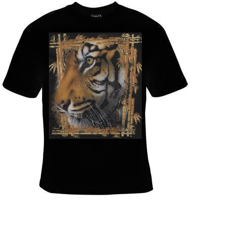 tiger bamboo frame animal zoo T-shirts cool tshirt tigers