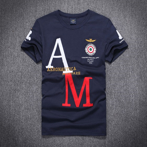 2016 new style fashion aeronautica militare men t-shirts,brand Cotton Men army short sleeve t shirts camiseta clothing