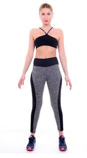 Plus Size Black/Gray Women's Fitness Leggings Workout Pants Panelled Ladies High Waist Leggins Quick-drying Wear Trousers CK1006