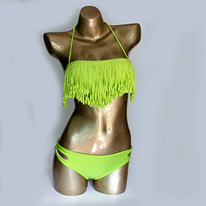 Hot Tassel Swimwear Bikini Set Women Swimsuit  Bandeau Bikini Fringe Biquini Brazilian Bathing Suit Girls Swimwear biquine Swim