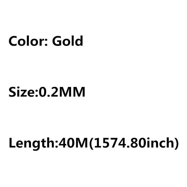 0.25/0.3/0.4/0.5/0.6mm 1 Roll Alloy Cord Silver Gold Plated Craft Beads Rope Copper Wires Beading Wire Jewelry Making Free Sh ln
