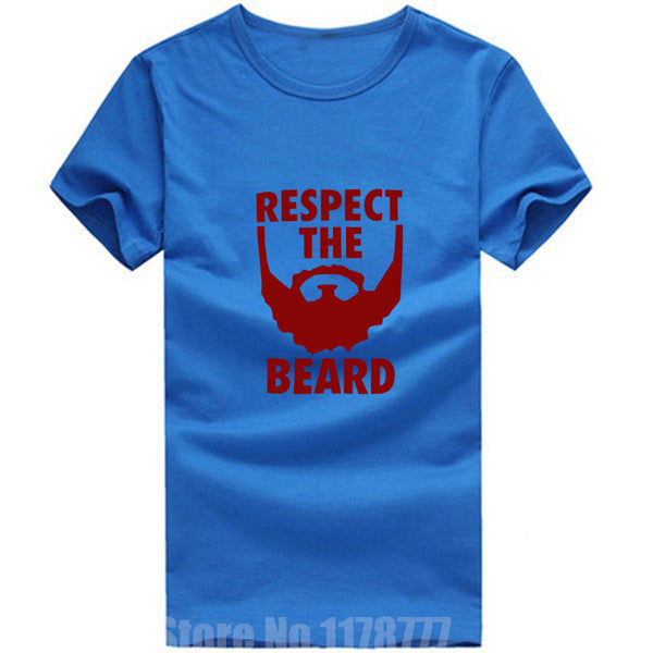 New Summer Respect The Beard T Shirt Men Fear Bryan Wrestling Humor T-shirt Fitness Tshirt