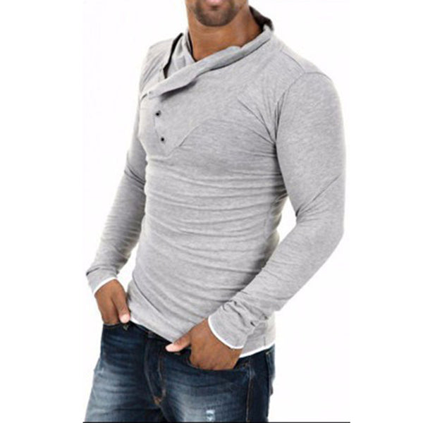 2016 New Arrival T shirt Men Fashion Solid Color Slim Fit Cool Long Sleeve T-shirt Men Tshirt Hip Hop Camisa Masculina 13M0469