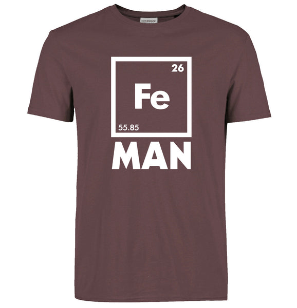 2016 funny FE MAN Iron Science Chemistry streetwear T-Shirt men t shirts tops tees top brand slim clothing pp crossfit