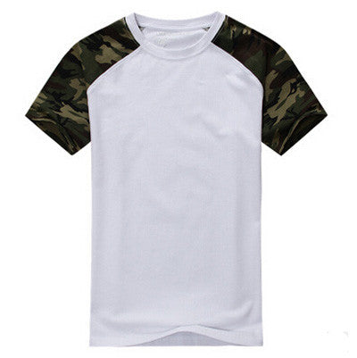 Man Casual Camouflage T-shirt Men Cotton Army Tactical Combat T Shirt Military Camo Camp Mens T Shirts 2016 Tees,EDA401