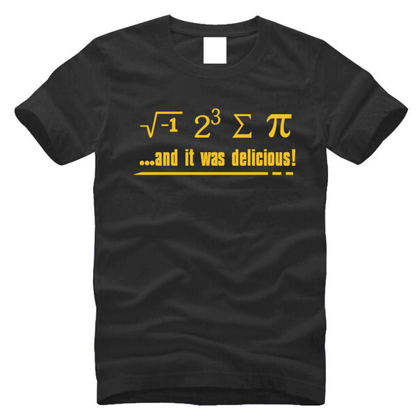 2016 Hot Sales nerdy Geek T-shirt Unisex US Size Plus Size Tee Shirt S-3XL Summer fitness humor t shirts math is delicious,MA039