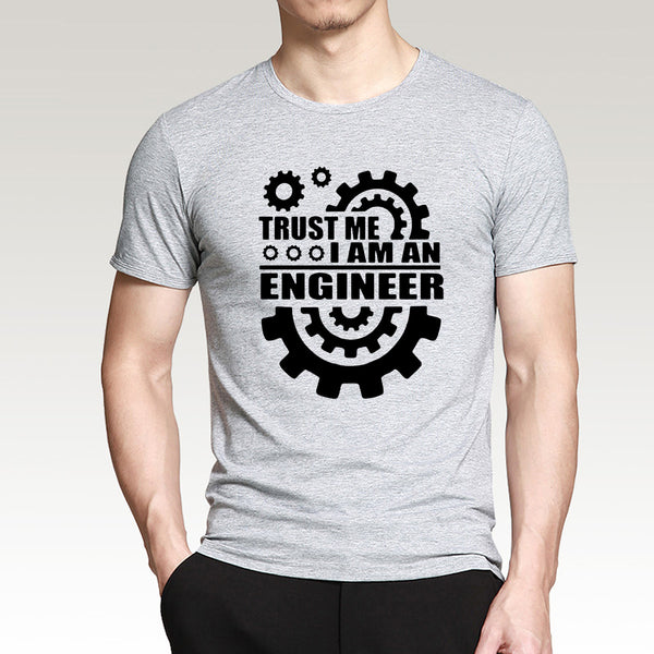 Summer 2016 Cotton Men T-shirts TRUST ME HUMOR I AM AN ENGINEER T Shirt O-Neck top Tee funny streetwear brand clothing camisetas