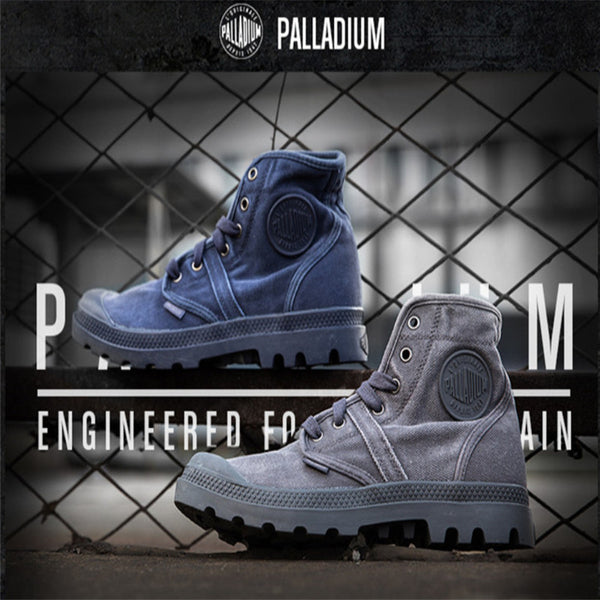 High Quality Palladium Fashion Style High-top Tactical Military Boots man Outdoor Travel Hiking Boots Comfortable Canvas Shoe