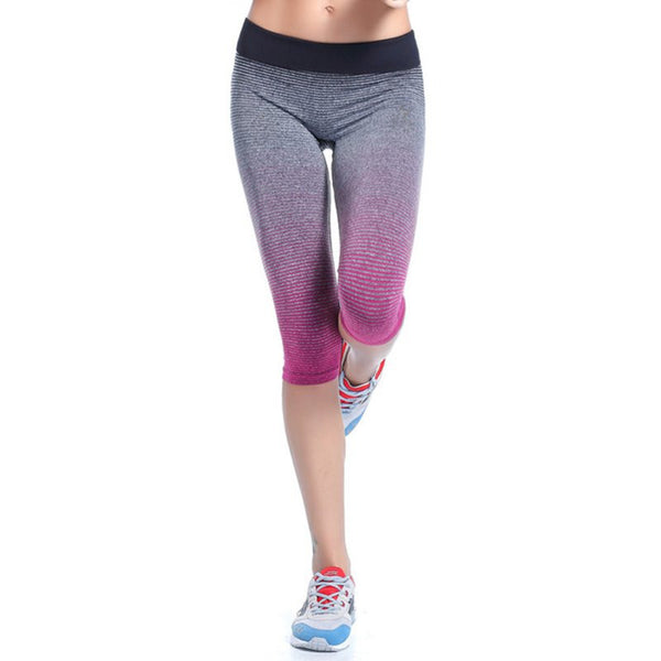 2017 Women  Leggings Summer Capri Pants For  Fitness  Clothes Elastic Capris    Leggings