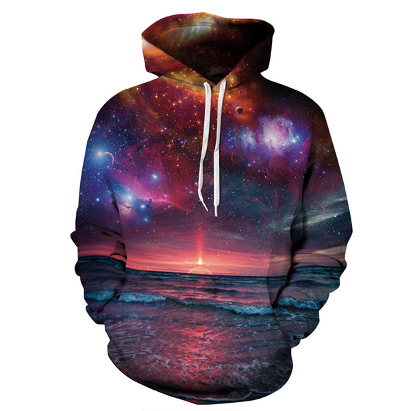 Alisister New Fashion Men/Women Hoodies 3D Galaxy Space Hooded Sweatshirts Couple Lover Harajuku Autumn Pullover Outfits Tops