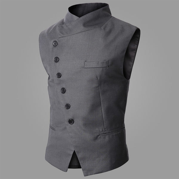 2015 New Arrival Fashion-designed Men's Slim Fit Vest Fashion Suit Vest Simple Business Vest Black/Gray Size:M-XXL Free Shipping