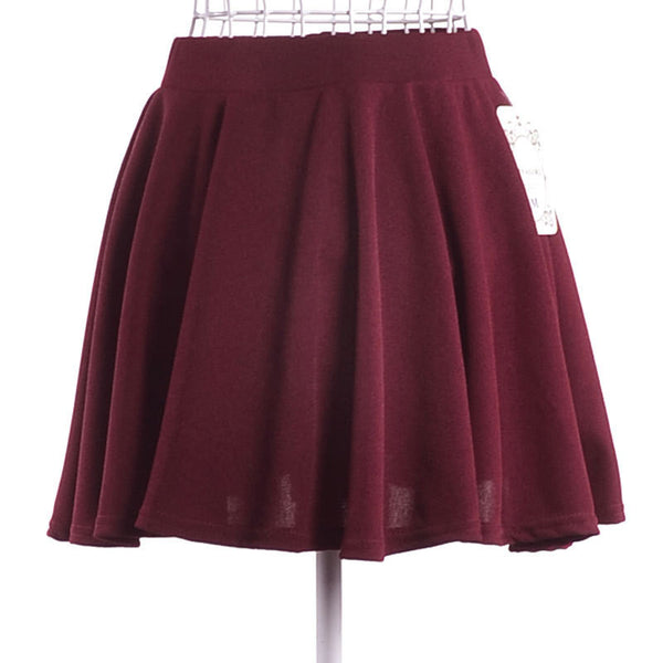 2015 New Summer Solid Empire Skirt Free Shipping Casual Mini Skirt Drop Shipping Female Skirt 8 Colors