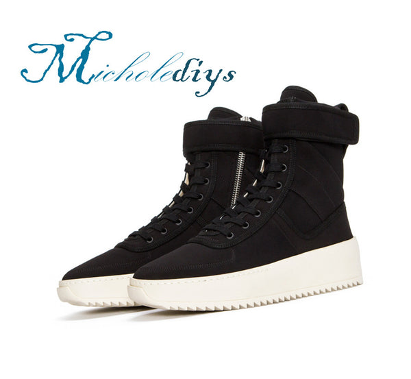 Handmade Men Winter Military high Boots Fear Of God Top quality Street Motorcycle shoes Platform Sexy Justin Bieber Boots