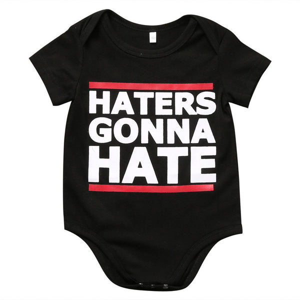 0-18M Baby Boy Girls Cotton Short Sleeve Romper Letter Printed Jumpsuit Newborn Kids Clothes Outfit
