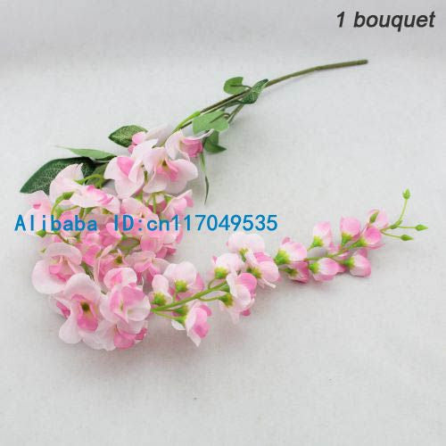 1PCS Artificial Wisteria Silk Flower Home Wedding Bouquet Party Decoration 6 Colors Available F107
