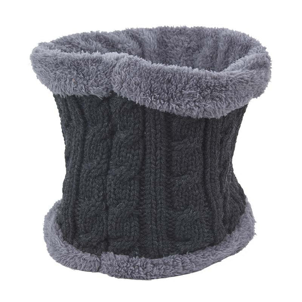 2015 New Unisex Winter Wool Neck Sets Plus Thick Velvet Warm Hat  Fashion Skullies & Beanies  Knitted Hat Caps