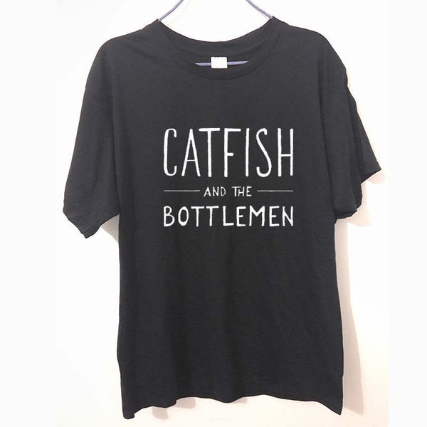 CATFISH AND THE BOTTLEMEN Print men T shirt Funny Cotton Casual Shirt