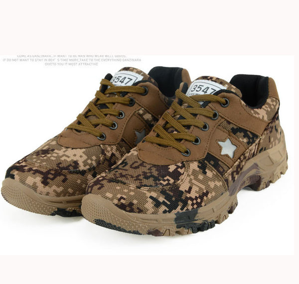 Esdy  Camouflage Tactical Military Combat Men Winter Boots Outdoor Wearable Warm Cotton Shoes Climbing Army Men Boots Size 37-45