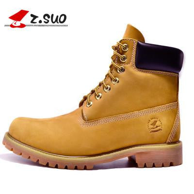 Genuine Leather Zsuo Brand Men Ankle Martins Men's Boots For Leisure Stylish Casual Walking Military Army Tactical Winter Shoes