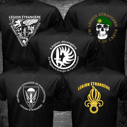 New French Foreign Legion  Special Forces World War Army T shirt tshirt homme  camisetas Men's Swag Cotton Tees USA SIZE S-3XL