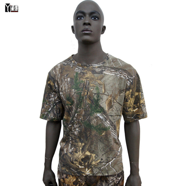 Summer Tactical Camouflage streetwear T Shirt Men Breathable Cotton Army activites Combat T-Shirt casual T shirts free shipping