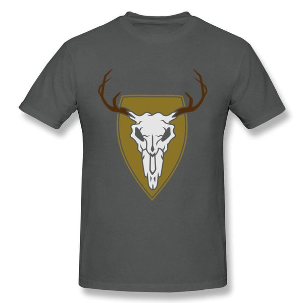 New Arrival Christmas The Skull Of A Reindeer T-Shirt Shirt Youth Cotton Humorous T Shirt On Sale Pre-Cotton Male Shirt