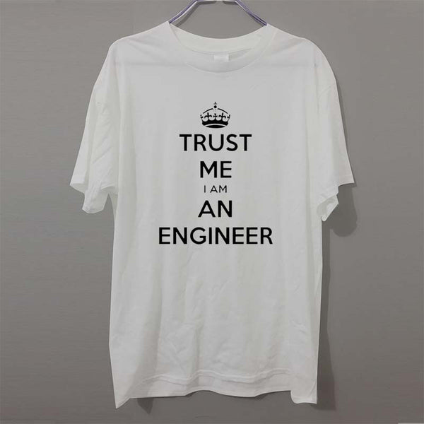 Free Shipping Summer New Fashion Cotton Short-sleeve T-shirt I AM AN KEEP CALM TRUST ME HUMOR ENGINEER T Shirt Men Cloth