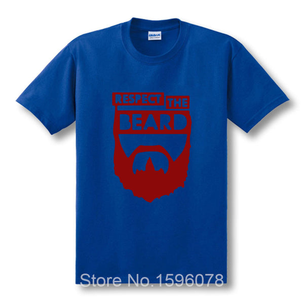 Fashion New t-shirts Custom Design Respect The Beard T Shirt Fear Bryan Wrestling Humor New Arrival t shirt