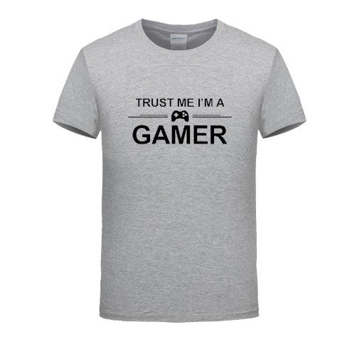 TRUST ME I'M A GAMER T-SHIRT 100% COTTON FUNNY PRINTED MENS PS4 XBOX COMPUTER GEEK TEE SUMMER MEN'S PRINT HUMOR T SHIRT