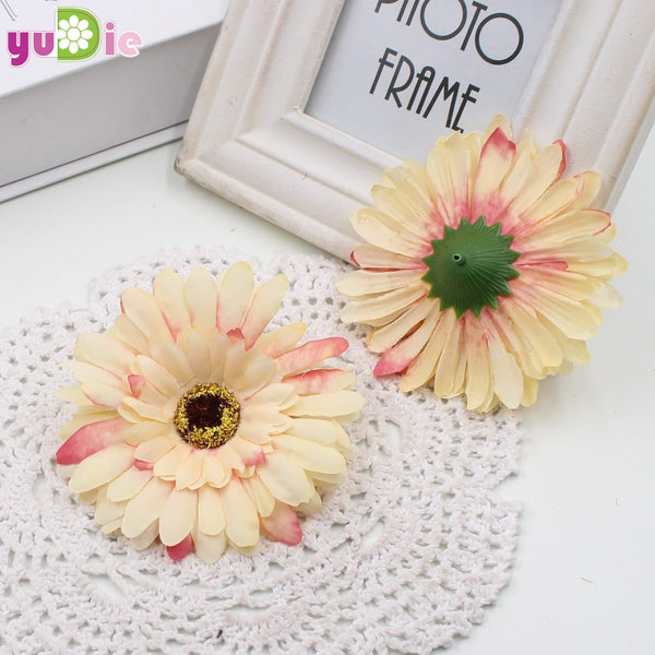 10pcs High simulation flower artificial flower silk flowers floral single decorative  Gerberas daisy wedding home decoration
