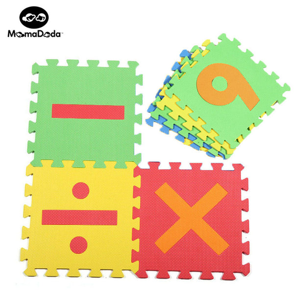 16 Pieces Number Puzzle Mats Soft EVA Foam Crawling Mat For Children Baby Carpet School Sport Educational Gym Play Mats
