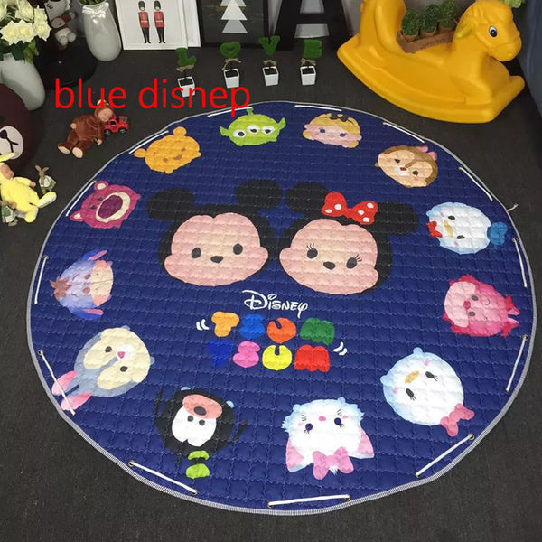 1.5m oversize baby crawling pad cartton fast housing bag child play game mat, baby gym mat,children developing carpet toys round