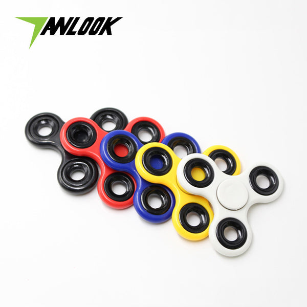100pcs/lot DHL Free Shipping Finger Tri Hand Fidget Spinner Lot Stres Caiki Handspinner Figit Tri-spinner Toy Game Figet Spinner