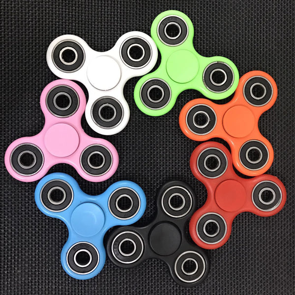 100pcs/lot ABS Fidget Spinner Triangle EDC Finger Hand Spinner For Autism/ADHD Anxiety Stress Relief Focus tools