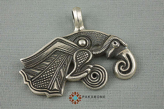 1pcs viking  retro Raven of Odin Hugin Jewelry Viking Scandinavian Solid  Pendant punk Necklace handmade jewelry