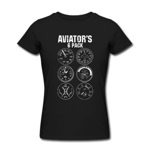 Aviator Six Pack T Shirt Funny Pilot Travel Humor Vacation Flight Novelty Mens T-Shirt Camiseta Homme Cool Tops Tee Shirts