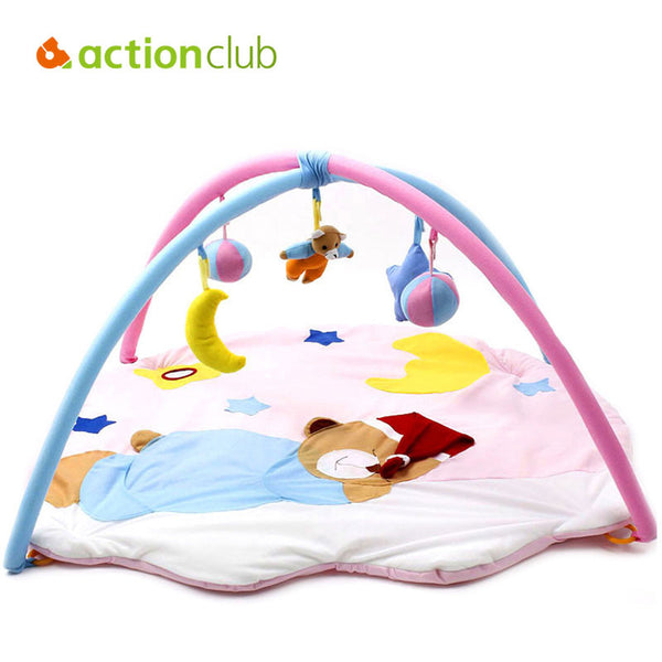 2015 Kawaii Baby Toy Play Mat Tapete Infantil Sleeping Bear Educational Crawling Activity Mat Play Gym Carpet 0-1 Year HK872