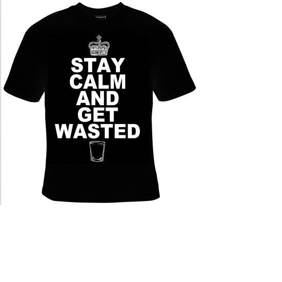 Keep Calm and get wasted cool funny t-shirts