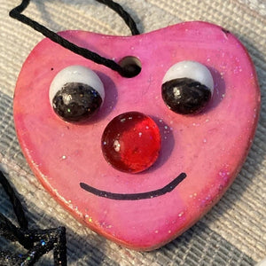 I Love Holidays Ceramic Pendant
