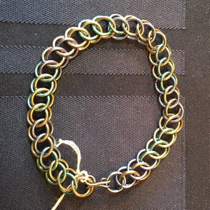 Blue and Green Niobium Bracelet